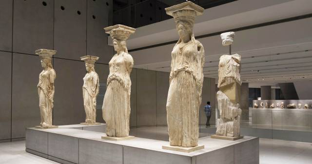 FIRST FLOOR ATHENA NIKE AND CARYATIDS