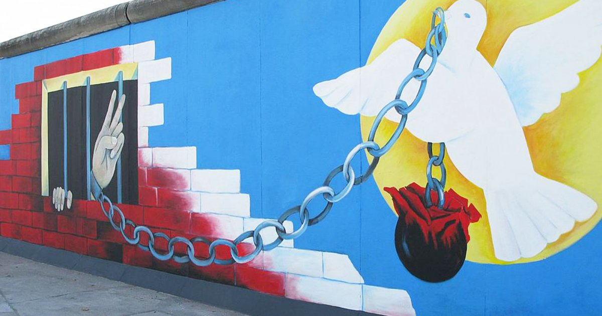 EAST SIDE GALLERY, MURALES