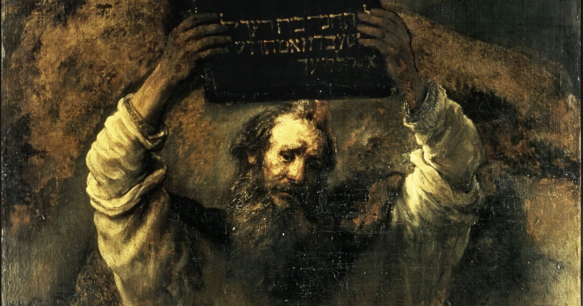 MOSES BY REMBRANDT