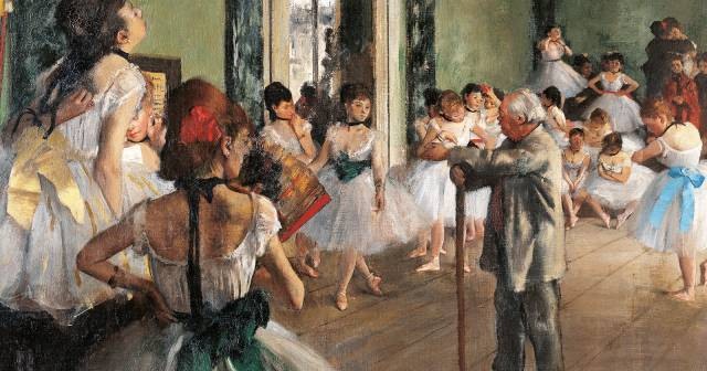 DEGAS THE DANCING CLASS