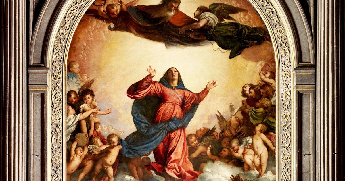 Assumption of the virgin mary titian venice titian assumption of the virgin